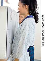 Patient Getting Chest Xray