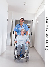 Patient in a wheelchair