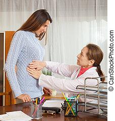 patient, jeune, docteur féminin