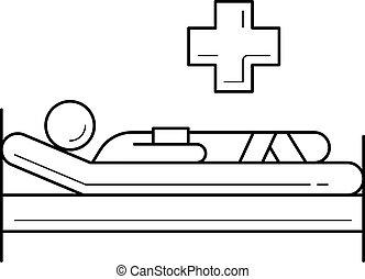 Patient line icon.