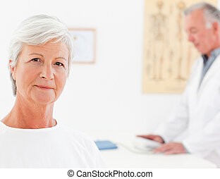 Patient looking at the camera