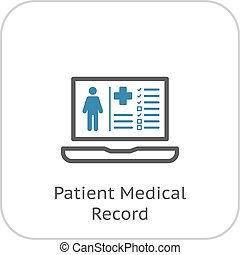 Patient Medical Record Icon. Flat Design. - Patient Medical...