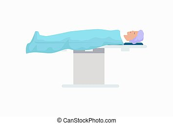 Patient on Surgical Table Icon Vector Illustration