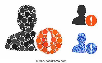 Patient problem Mosaic Icon of Spheric Items - Patient ...