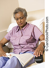 Patient Reading A Magazine