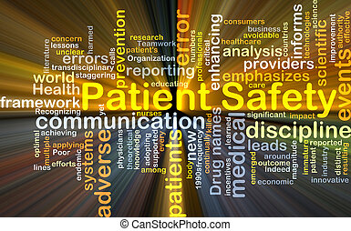 Patient safety background concept glowing - Background...