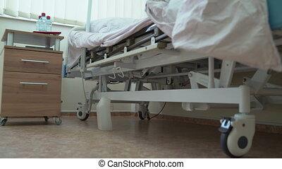 patient, salle, séance, hôpital, après, lit, chirurgie, bariatric, homme