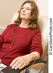 Patient Sits Being Monitored