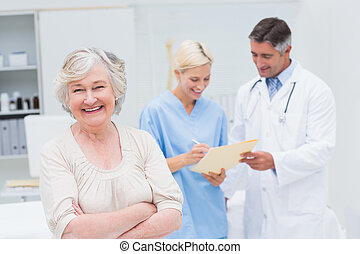 Patient smiling in the clinic