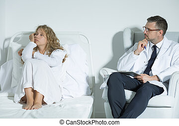 Patient talking with a psychiatrist