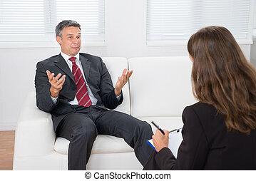 Patient Talking With Psychiatrist