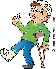 Patient theme image 1 - eps10 vector illustration.