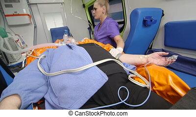 patient, urgence, fournir, monde médical, critique, ambulance, technicien, soin