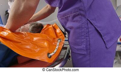 patient, urgence, fournir, monde médical, emt, critique, infirmier, soin
