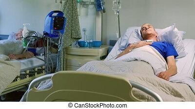patient, wards, dormir, 4k, mâle