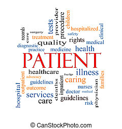 Patient Word Cloud Concept with great terms such as medicine...