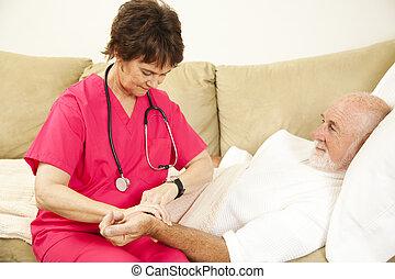 patient\'s, afname polsslag