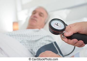 patients blood pressure