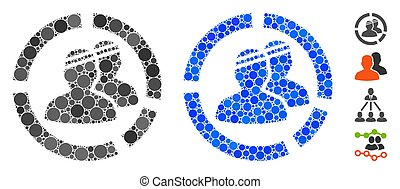 Patients Diagram Mosaic Icon of Round Dots