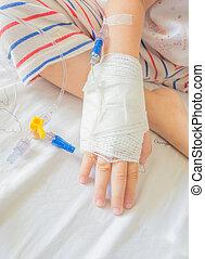 patients, iv, solution, рука, child's