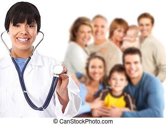 patients., médecin de famille