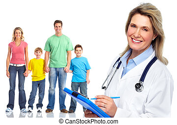 patients., monde médical, médecin de famille