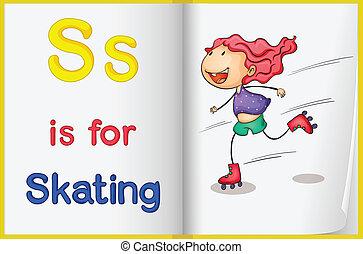 patinação, livro quadro
