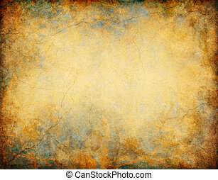 Patina Grunge Background - A vintage grunge background with...