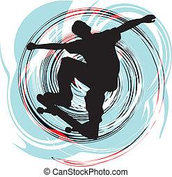 patinador, ilustración