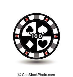 patinage, 10, claus., chips., gray., tissu, papier, décoration, casino, usage, illustration, eps, santa, site, impression, vector., etc., conception, noël