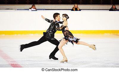 patinage, arène, figure, sports