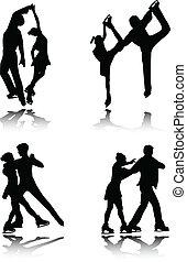 patinage, couples, figure