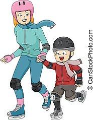 patinage, glace