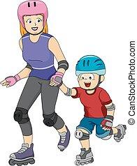 patinage, inline, leçons