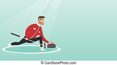patinage, jouer, bordage, sportif, rink.