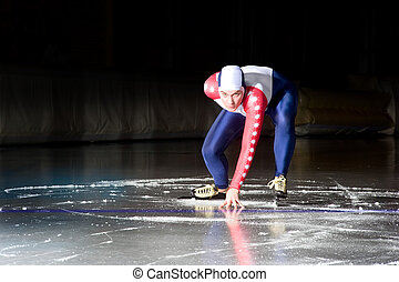 patinaje, comienzo, velocidad