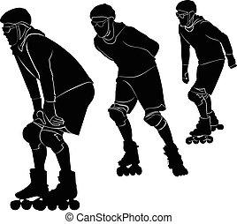 patinaje, rodillo