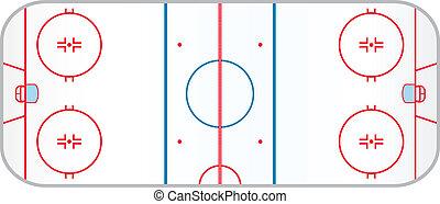patinoire, hockey