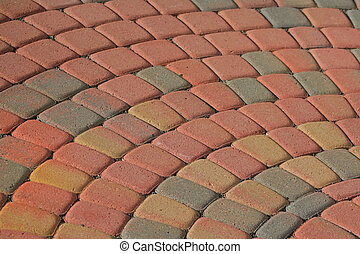 Patio Brick Pattern - Patio bricks in semi circular pattern...