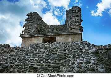 patio, convento de monjas, uxmal, cuadrángulo