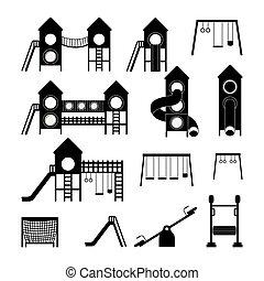 patio de recreo, diseño, vector, illustration.