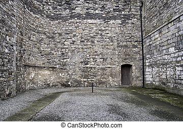 patio, dublín, prisión, viejo, kilmainham