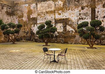 patio, el, jadida, medina, marruecos