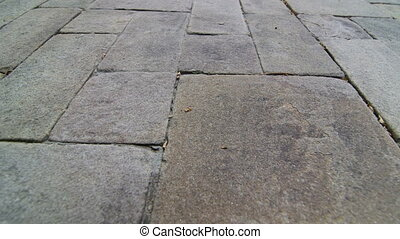 Patio garden driveway natural stone paving slab surface...