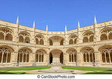 patio, monasterio, hieronymites