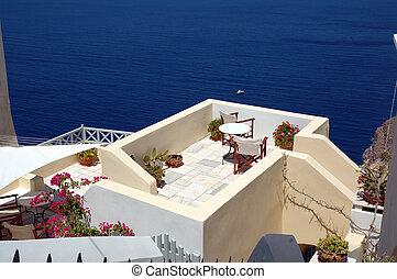 patio on the greek island