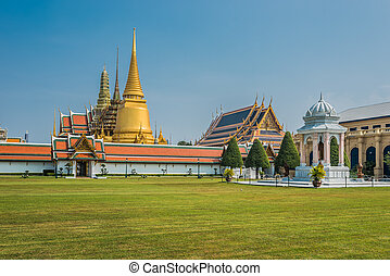 patio, palacio, phra, bangkok, magnífico, tailandia, wat,...