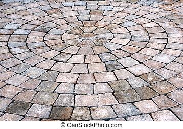 Patio bricks background