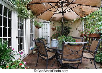 patio, ponte