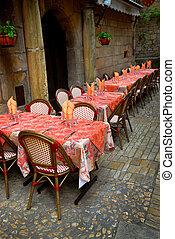 patio, ristorante